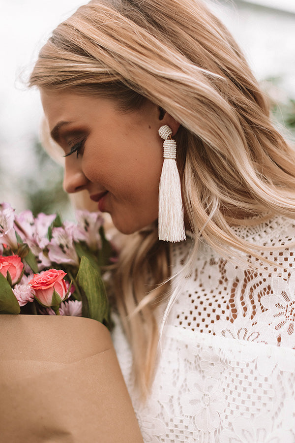 Shopping On Fifth Ave Earrings In Ivory