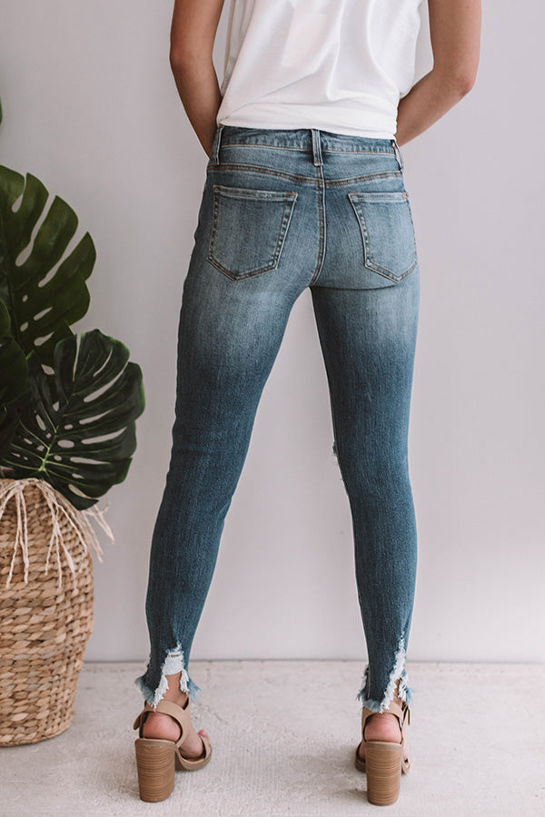 The Eliana Midrise Distressed Ankle Skinny