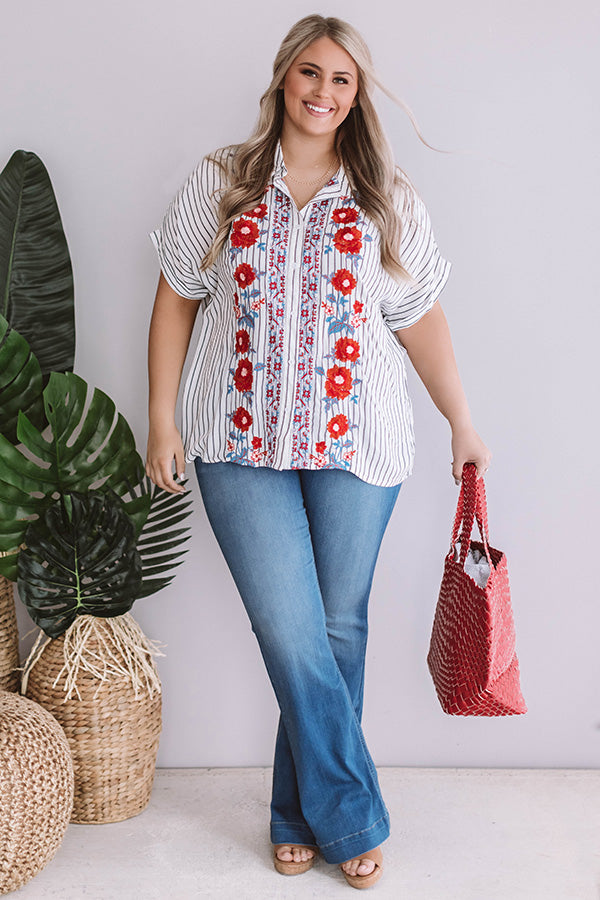 Baja Bungalow Embroidered Top