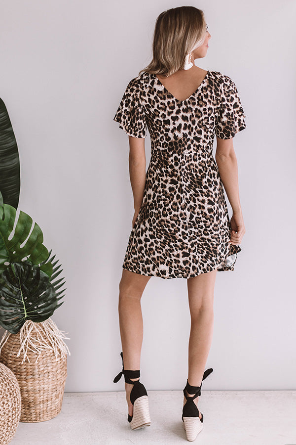 Manhattan Views Leopard Tie Dress
