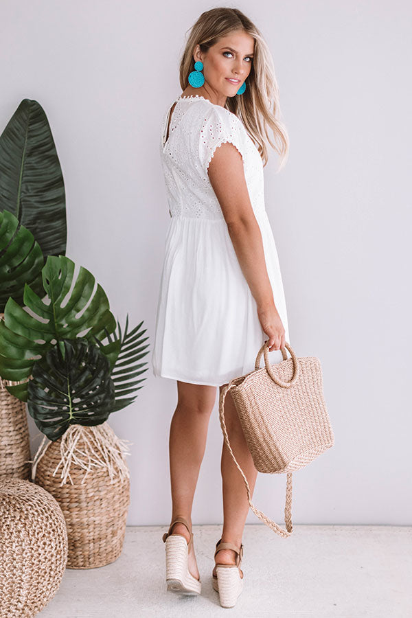 Caribbean Kisses Eyelet Dress