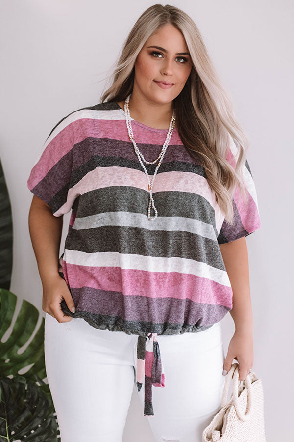 Blushing Babe Stripe Tee