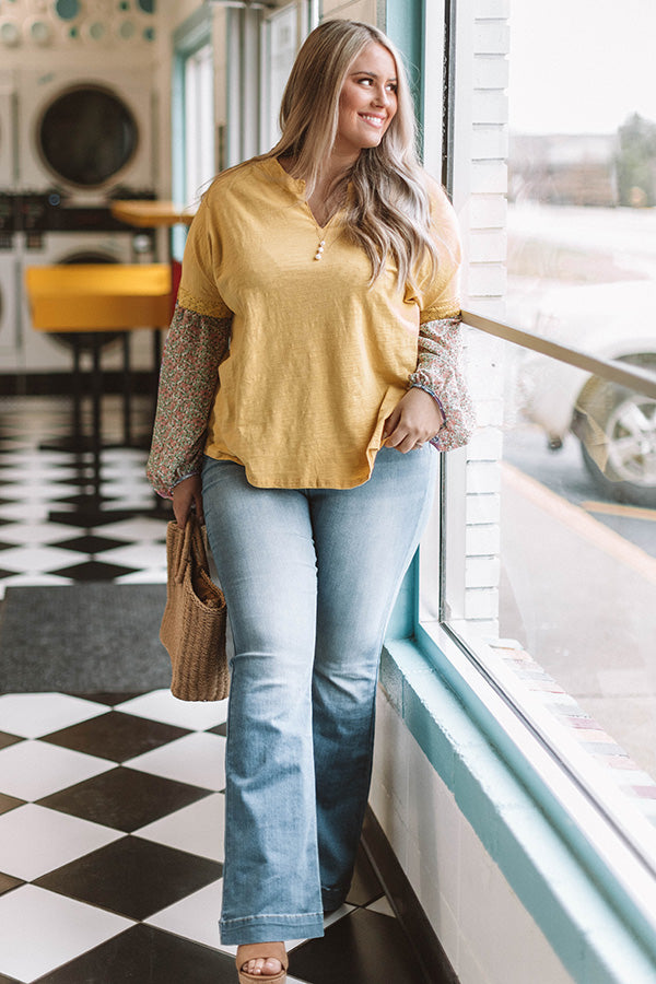Staying Chic Shift Top In Yellow