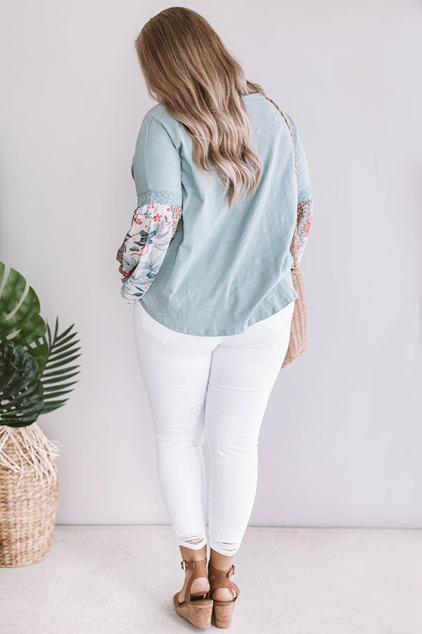 Staying Chic Shift Top In Deep Aqua