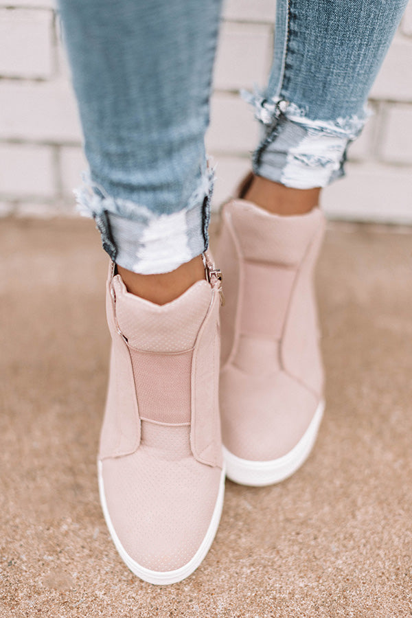 The Karlie Perforated Bootie In Blush