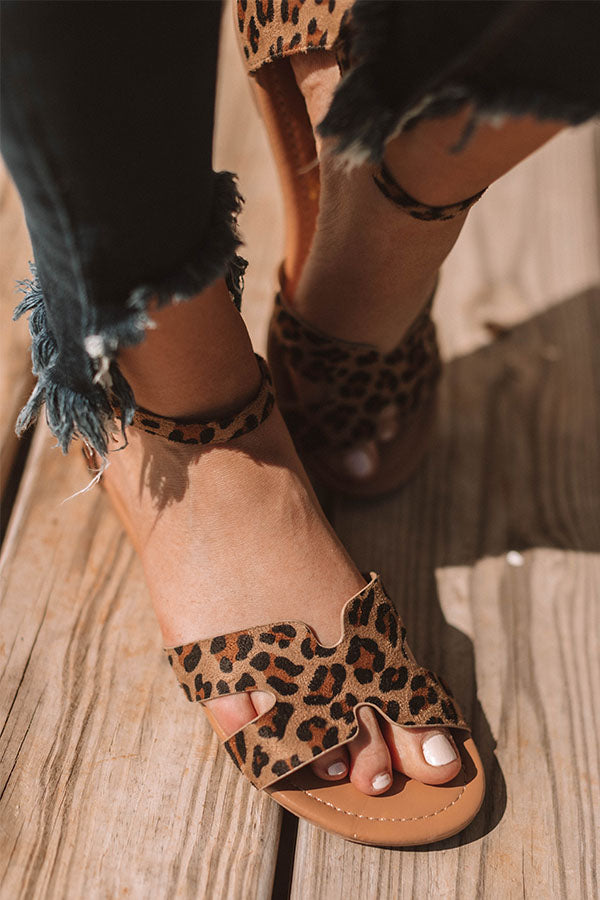 The Oakley Sandal In Leopard