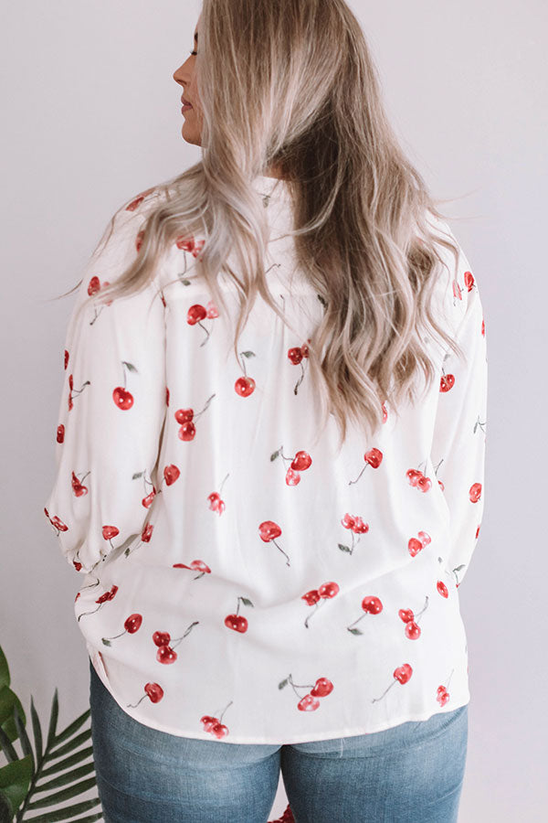 Cherry Blossom Shift Top
