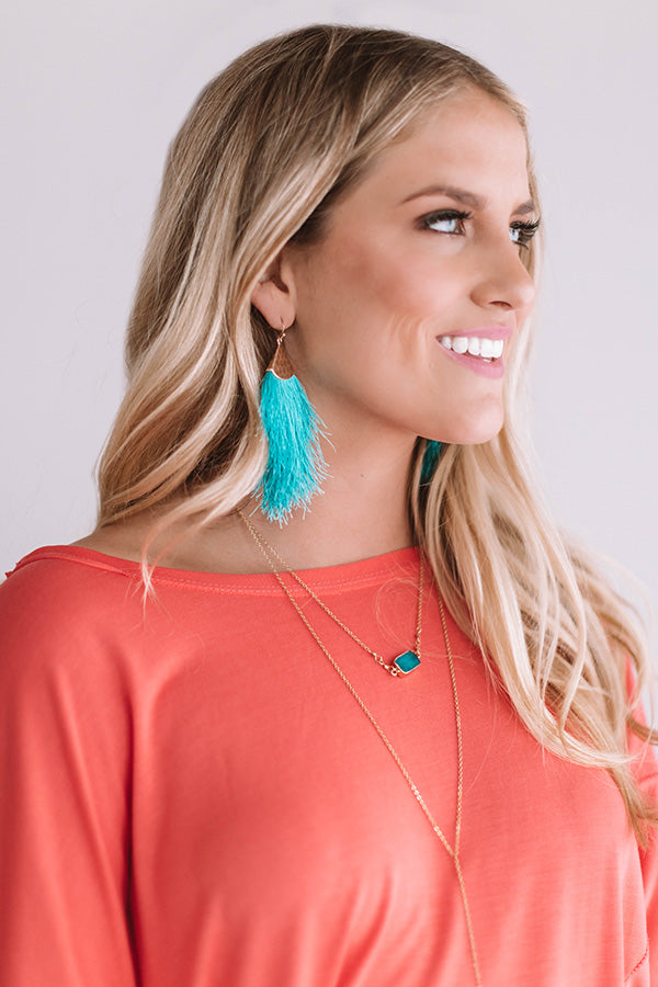 Good Thread Earrings In Turquoise