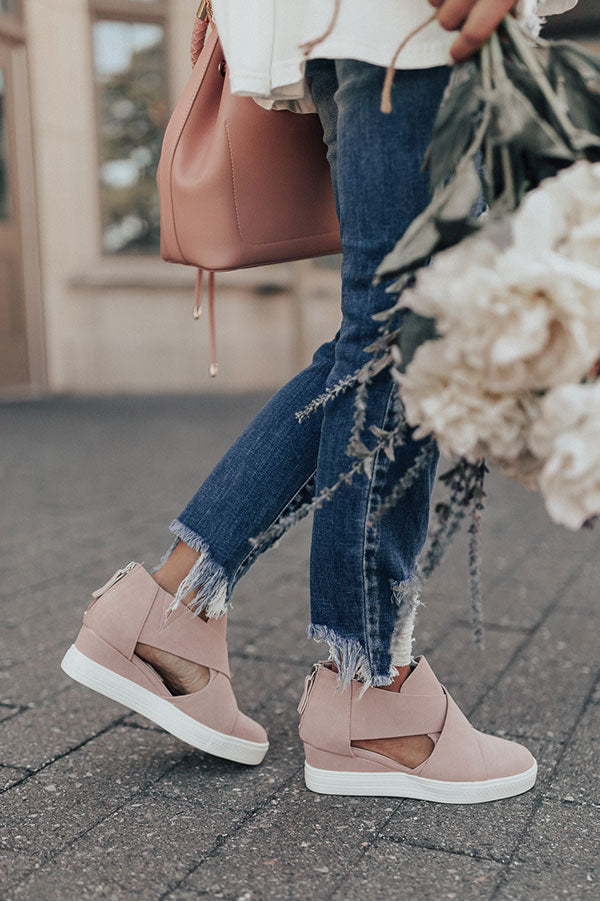 The Calum Bootie In Blush