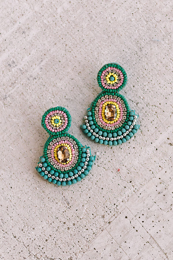 Genuinely Charming Earrings In Jade