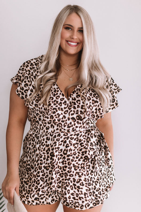 Love On My Mind Leopard Wrap Romper