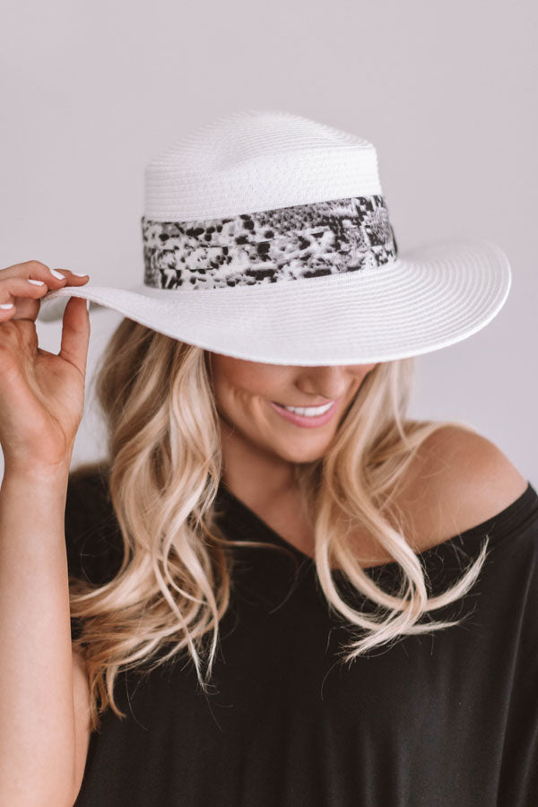 Road Trip To Paradise Hat In White