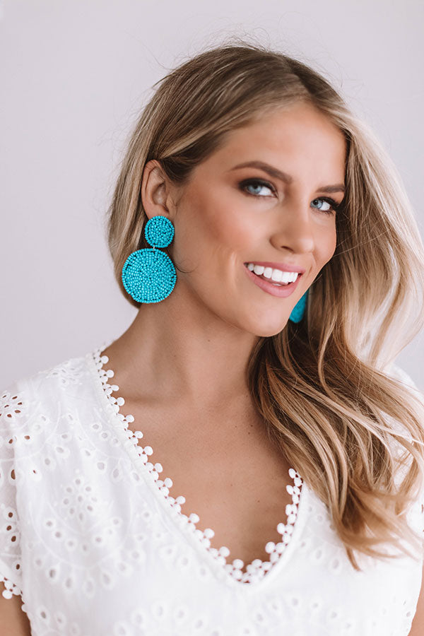 Gorgeous Forever Earrings In Ocean Blue