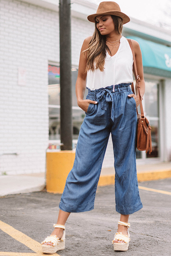 The Brooke High Waist Pants In Medium Wash