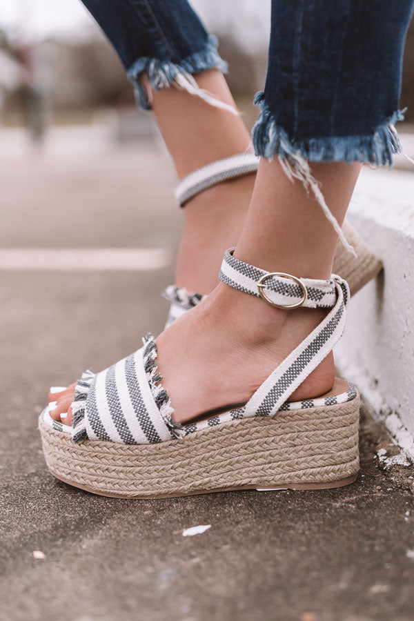 The Charlotte Espadrille In Dark Grey
