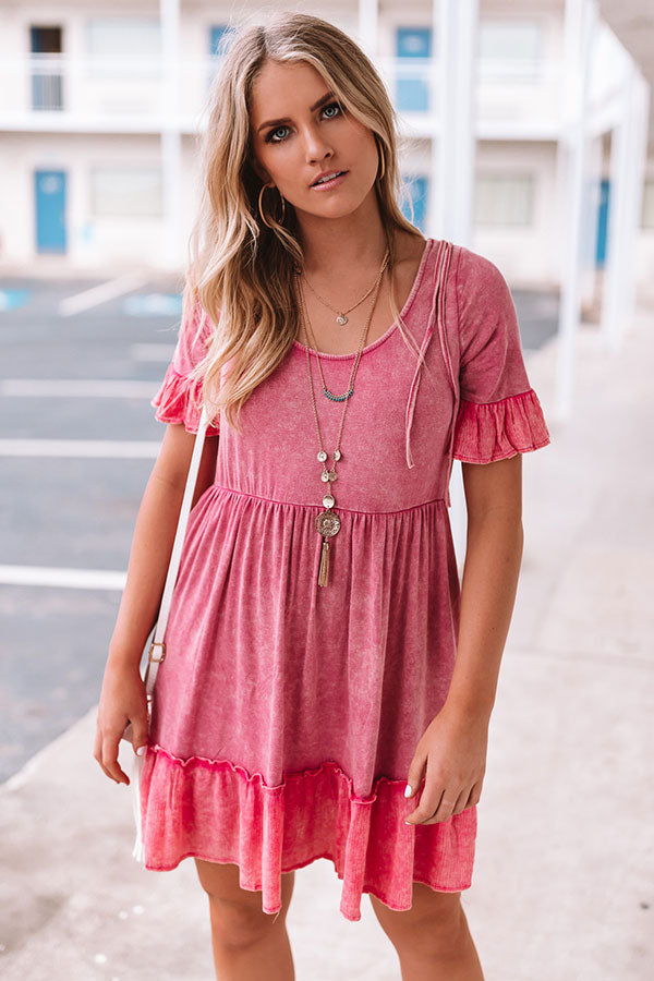 Beach Oasis Mineral Wash Dress