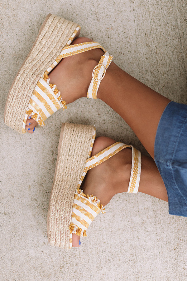 The Charlotte Espadrille In Yellow