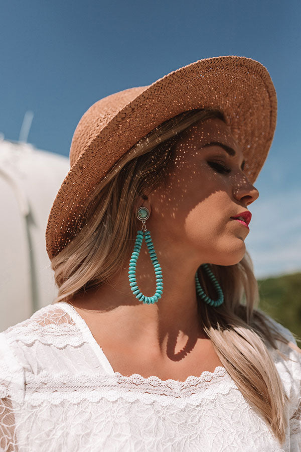 Shoreline Staple Turquoise Earrings
