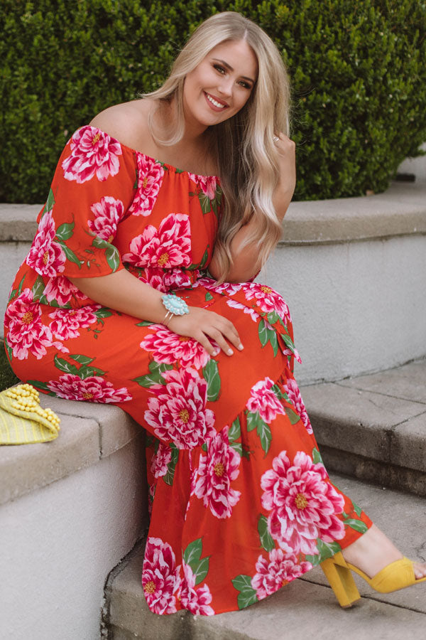Aruba Romance Off Shoulder Maxi Dress