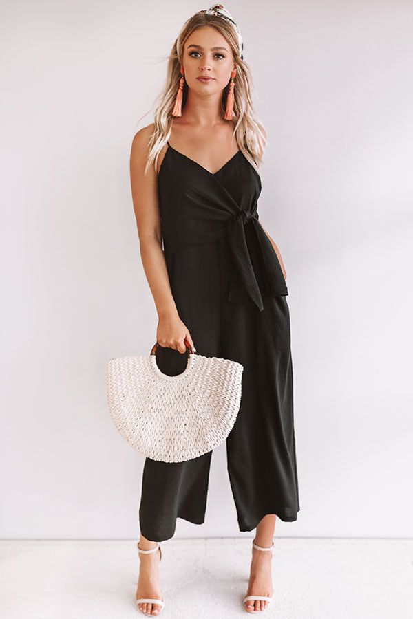 Rooftops and Romance Jumpsuit in Black