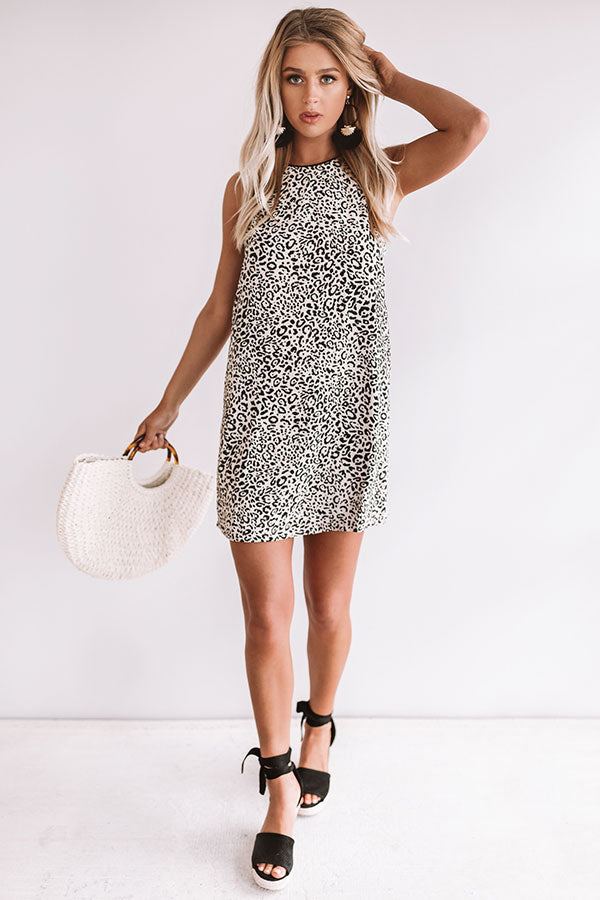 Incredibly Cute Leopard Shift Dress