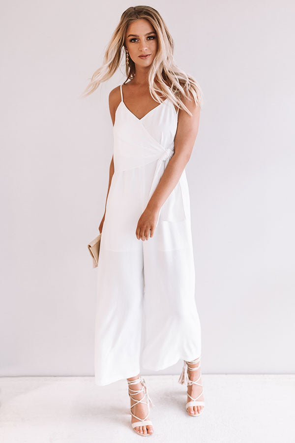 Rooftops and Romance Jumpsuit in White