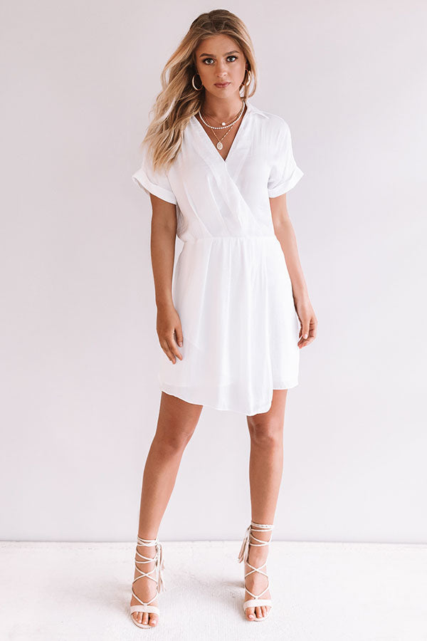 Upper East Side Sipping Dress in White