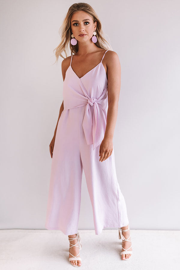 Rooftops and Romance Jumpsuit in Light Orchid