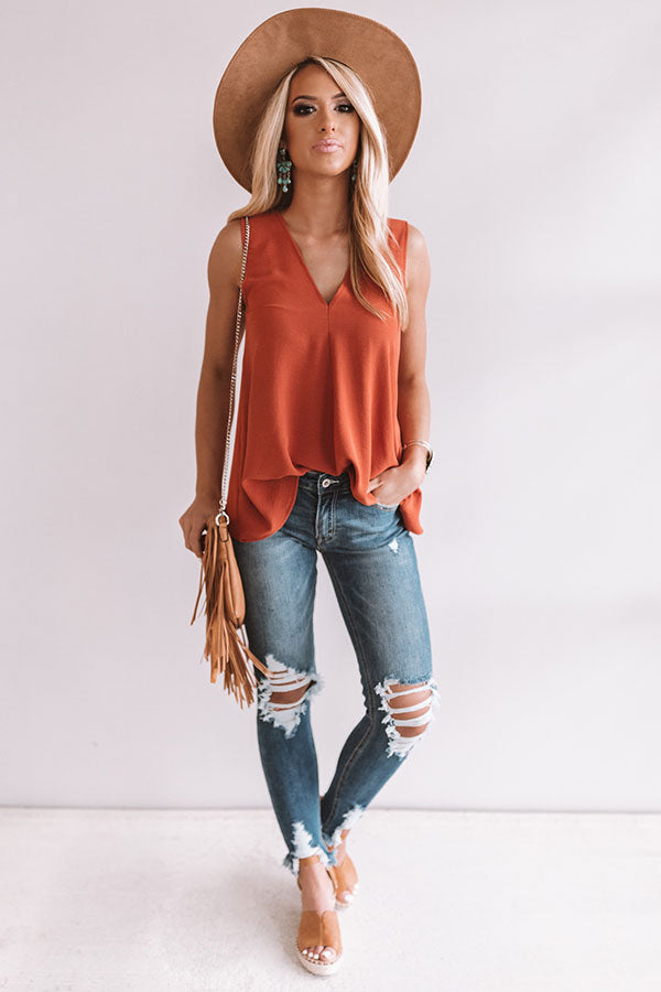 Chic Harbor Shift Tank in Rust