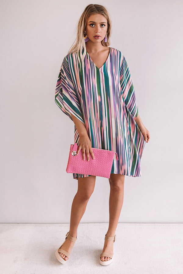 Travel Guide Stripe Shift Dress