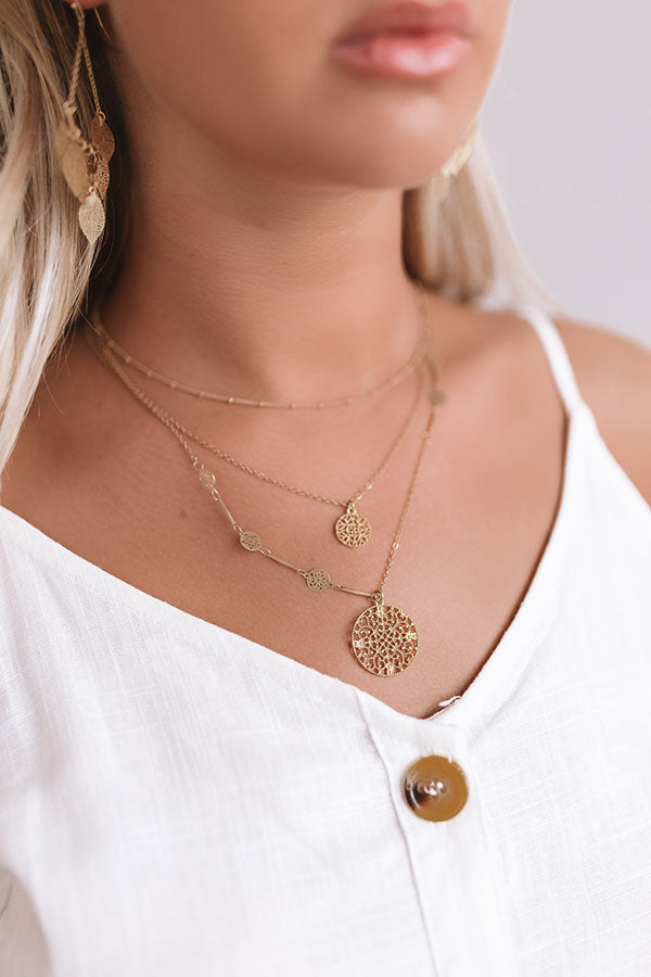 Hollywood Happiness Layered Necklace