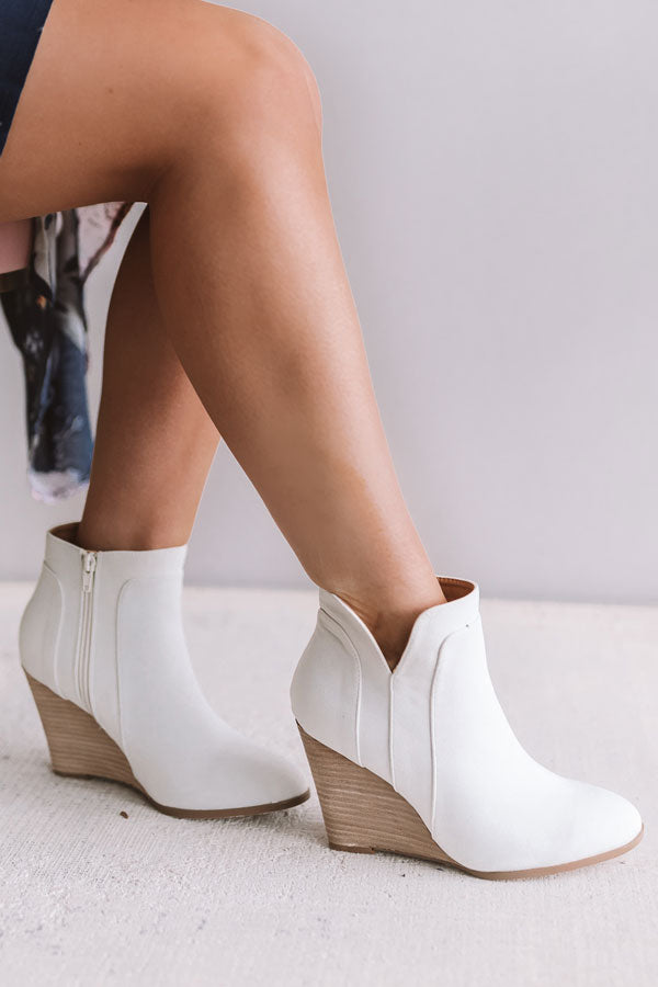 The Cabo Bootie In Ivory
