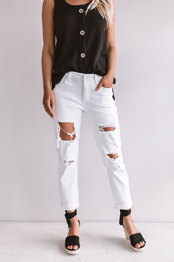 The Luna Midrise Distressed Relaxed Skinny