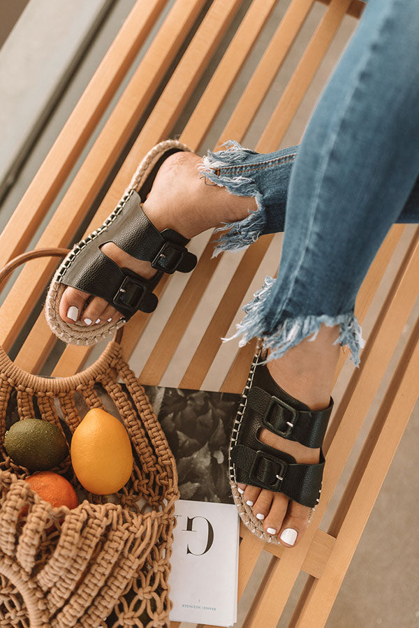The Mara Sandal In Black