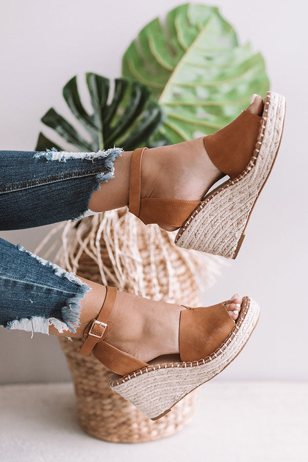 The Bliss Wedge In Tan