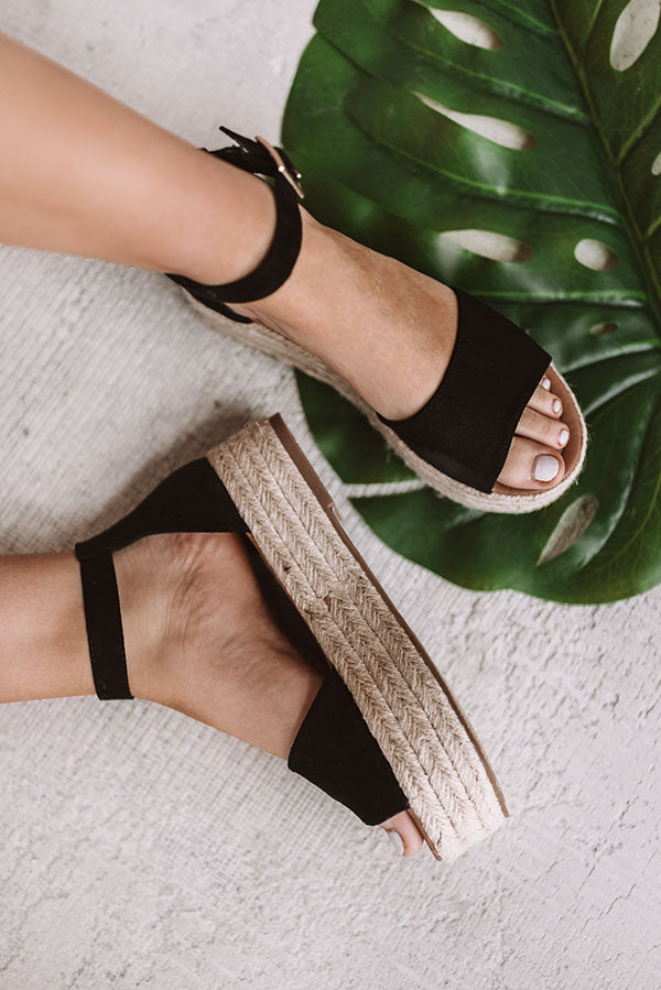 The Emeline Espadrille In Black