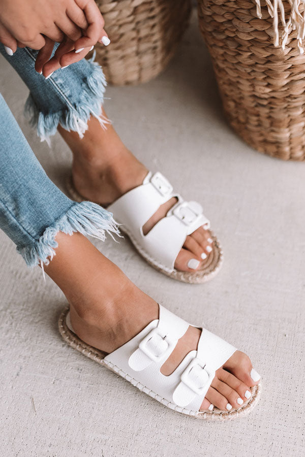 The Mara Sandal In White