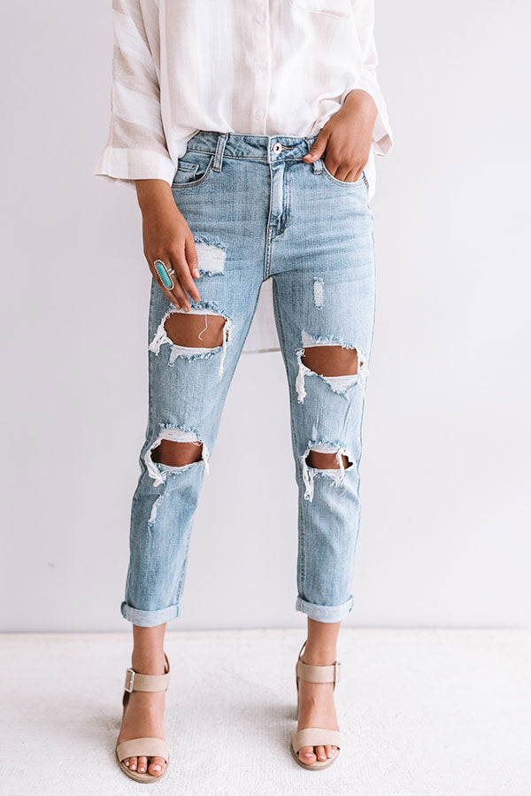 The Demi High Waist Distressed Relaxed Skinny
