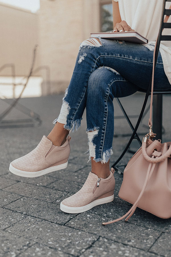 The Kendal Bootie In Blush