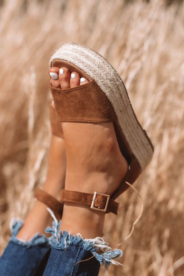The Emeline Espadrille In Brown