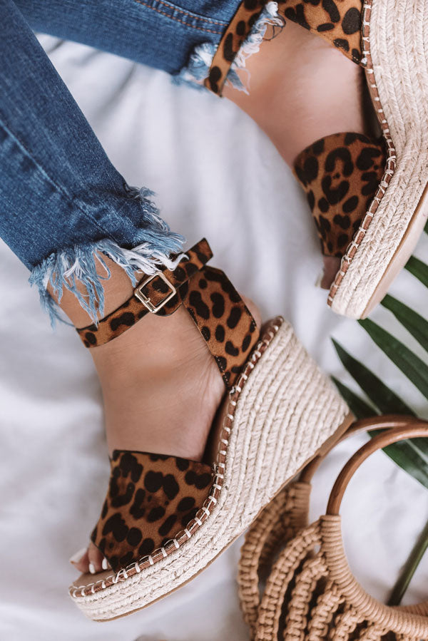 The Bliss Wedge In Leopard