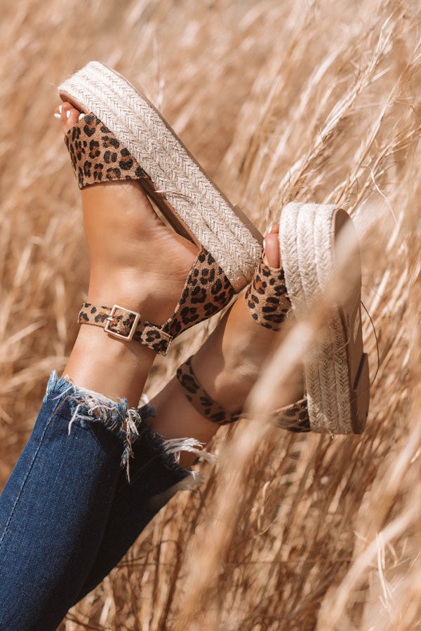 The Emeline Espadrille In Leopard