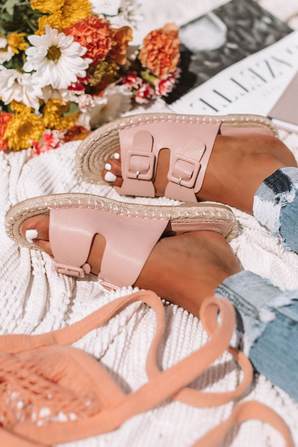 The Mara Sandal In Pink