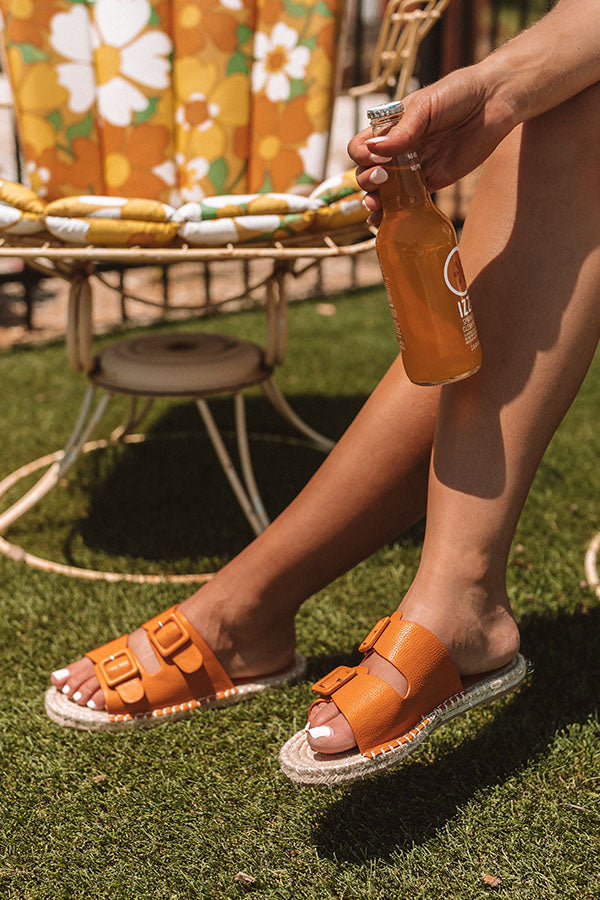 The Mara Sandal In Persimmon