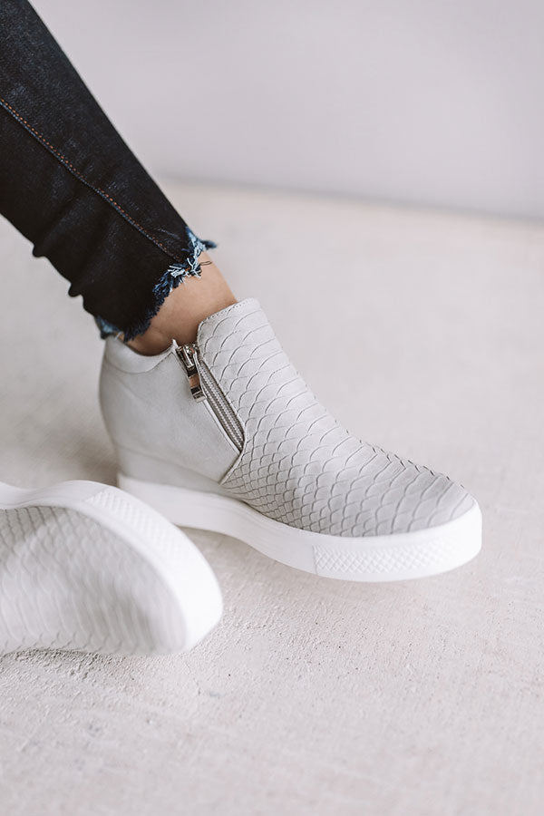 The Kendal Bootie In Light Grey