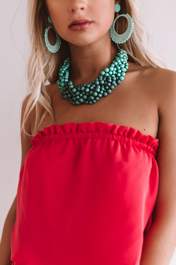 Beyond Happy Necklace In Teal
