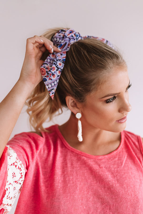 Fields Of Wanderlust Scrunchie In Lavender