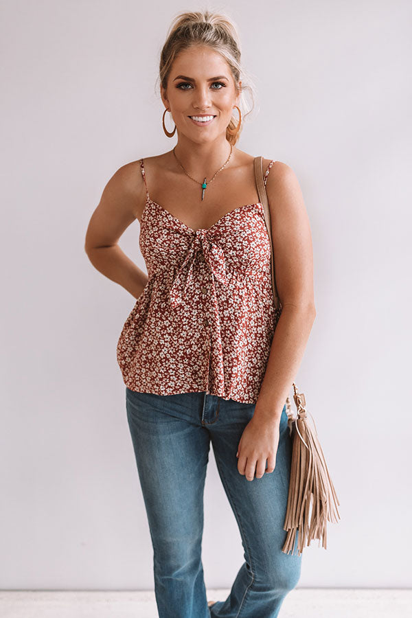 Wild Flowers And Whimsy Shift Tank In Rustic Rose