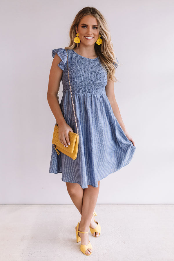 Down The Line Smocked Dress
