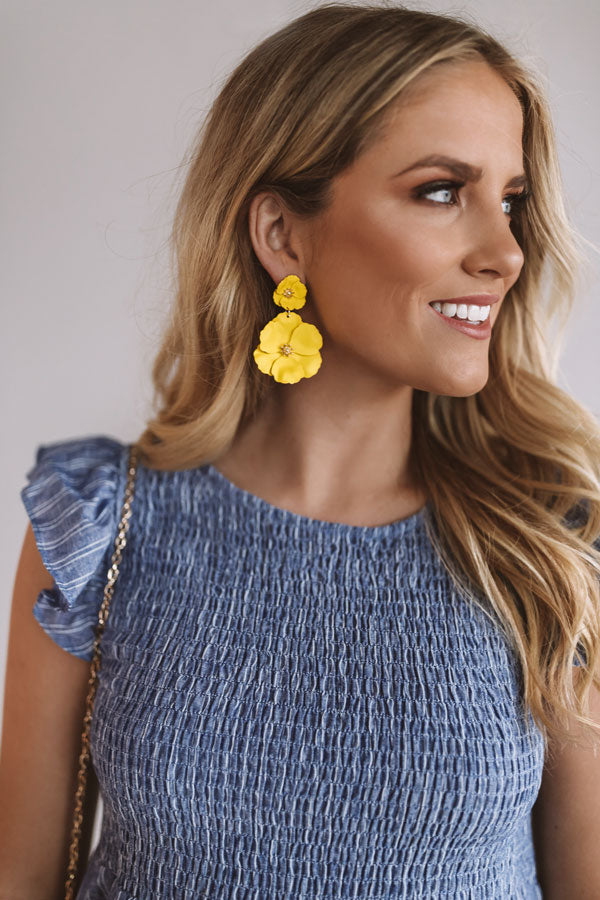 Floral Confessions Earring in Yellow